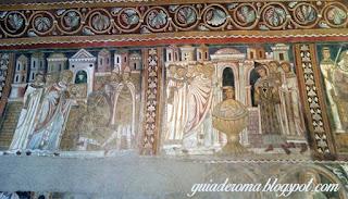 afrescos medievais sao silvestre roma - Afrescos Medievais da Capela de São Silvestre