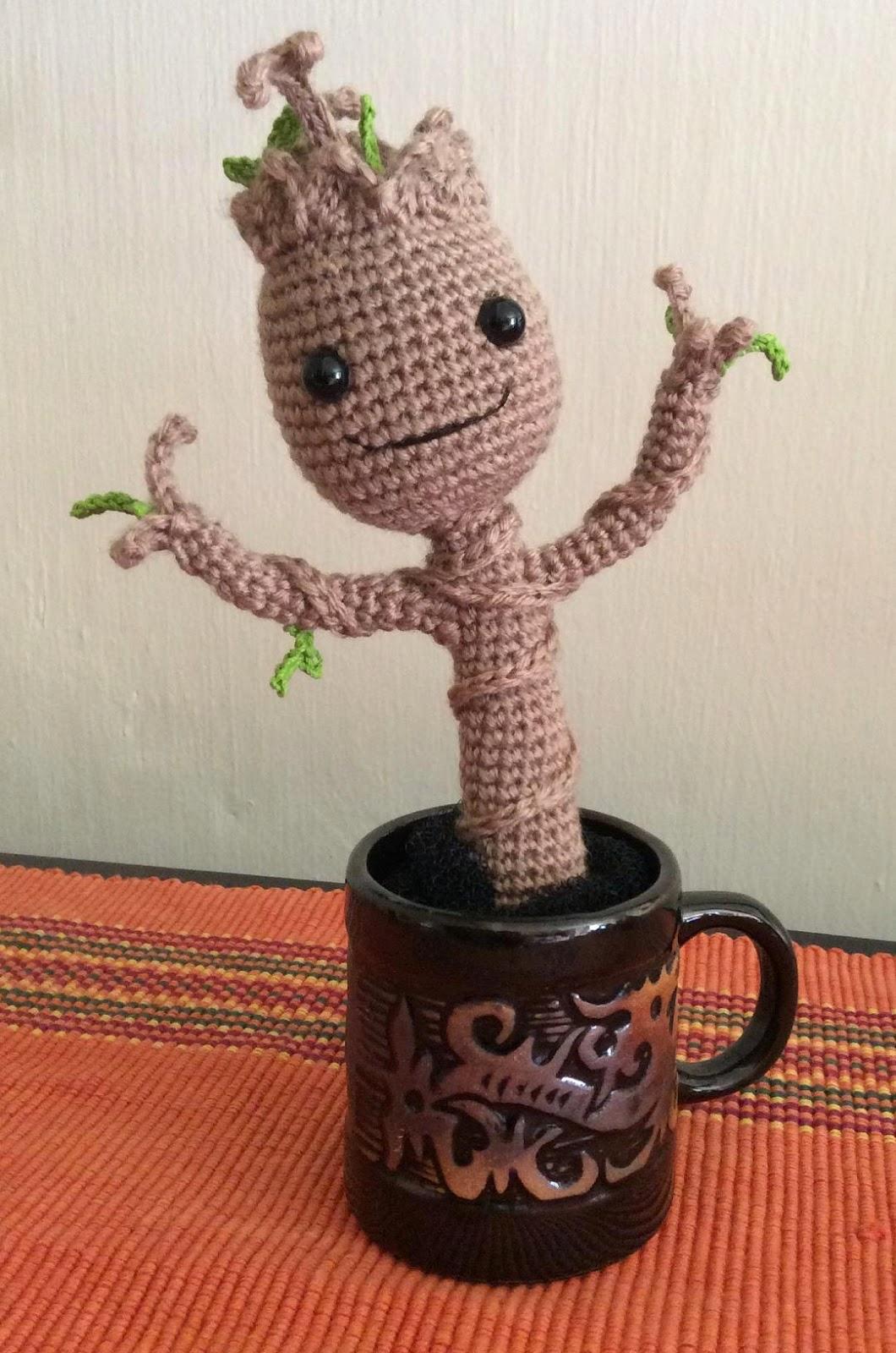 Amigurumi Patterns Groot : The Moody Homemaker: Another Crochet / Amigurumi Baby Groot