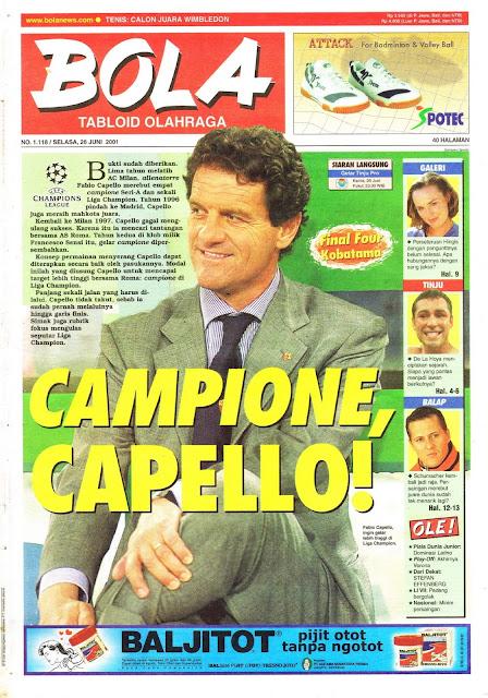 CAMPIONE FABIO CAPELLO AS ROMA SERI A