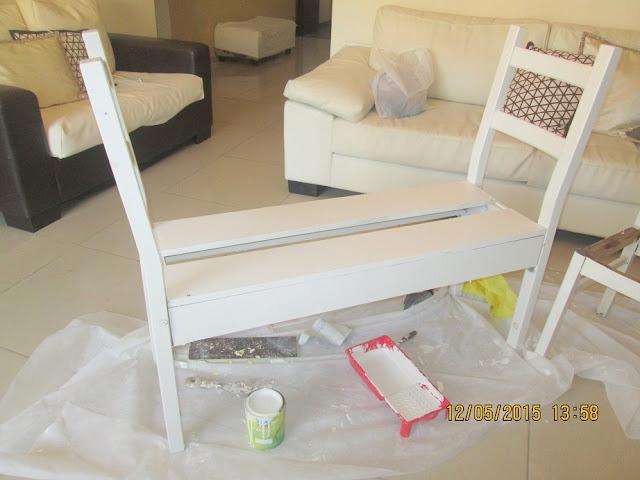 IMG 0392 - בניית ספסל משני כיסאות