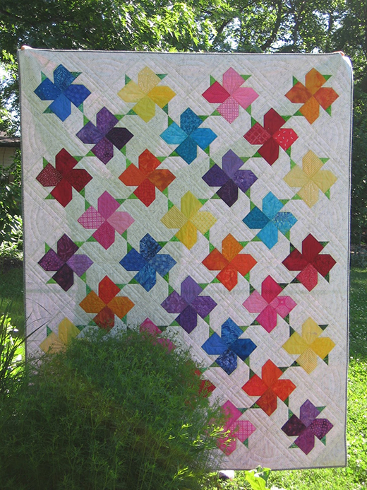 Spring Bloom Quilt Free Tutorial Designed by Joanne Kerton of Canuck Quilter Designs