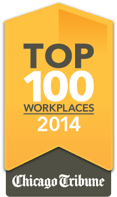 Chicago Tribune Top 100 Workplaces for 2014