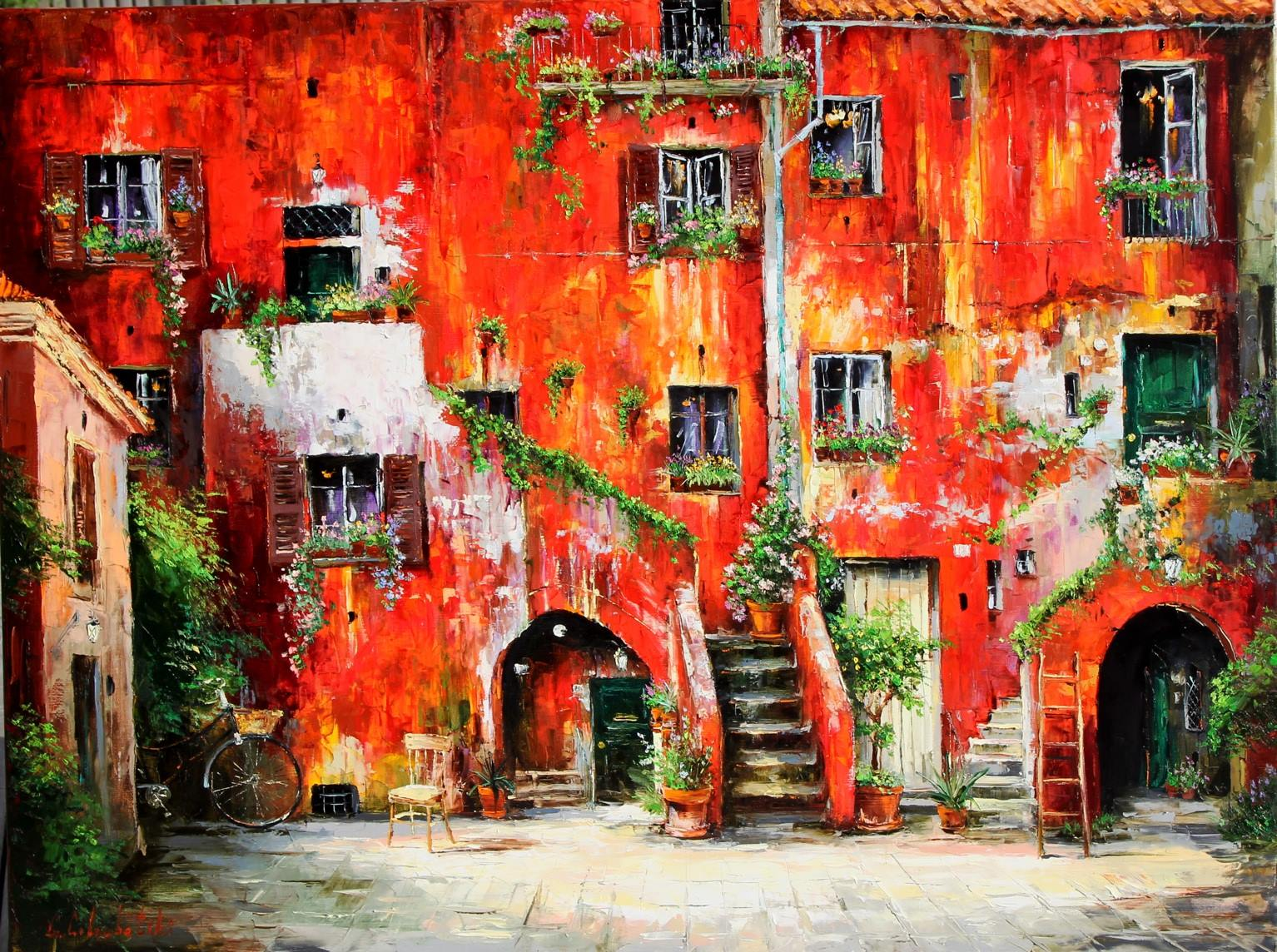 Gleb Goloubetski Rome Courtyard