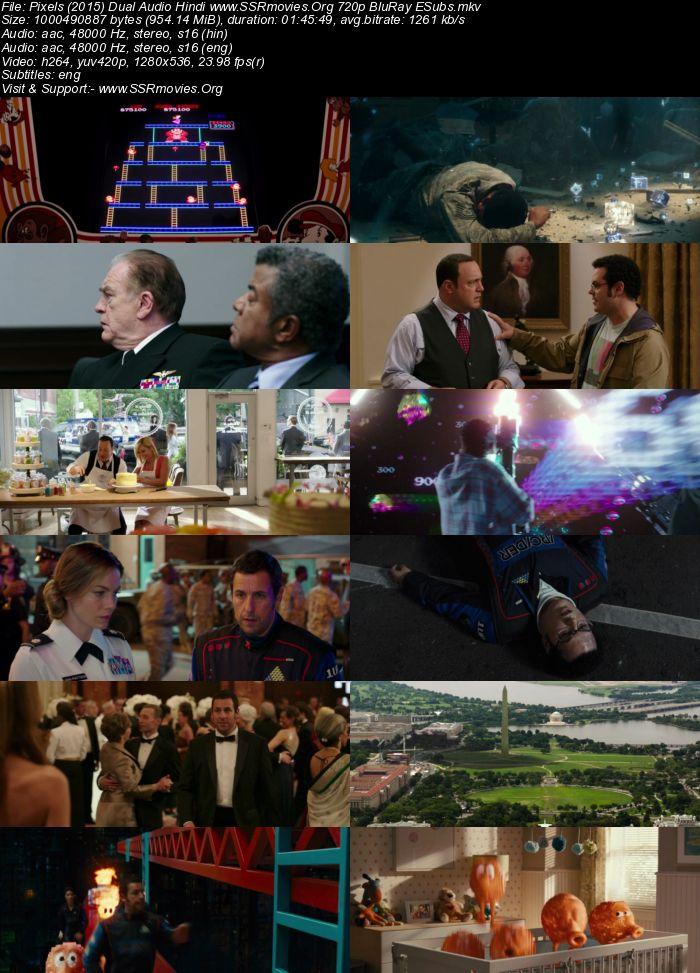 Pixels (2015) Dual Audio Hindi 720p BluRay