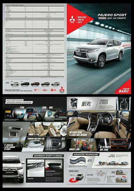 interior - fitur - spesifikasi - pajero - dakar - ultimate - dakar ultimate - 2018