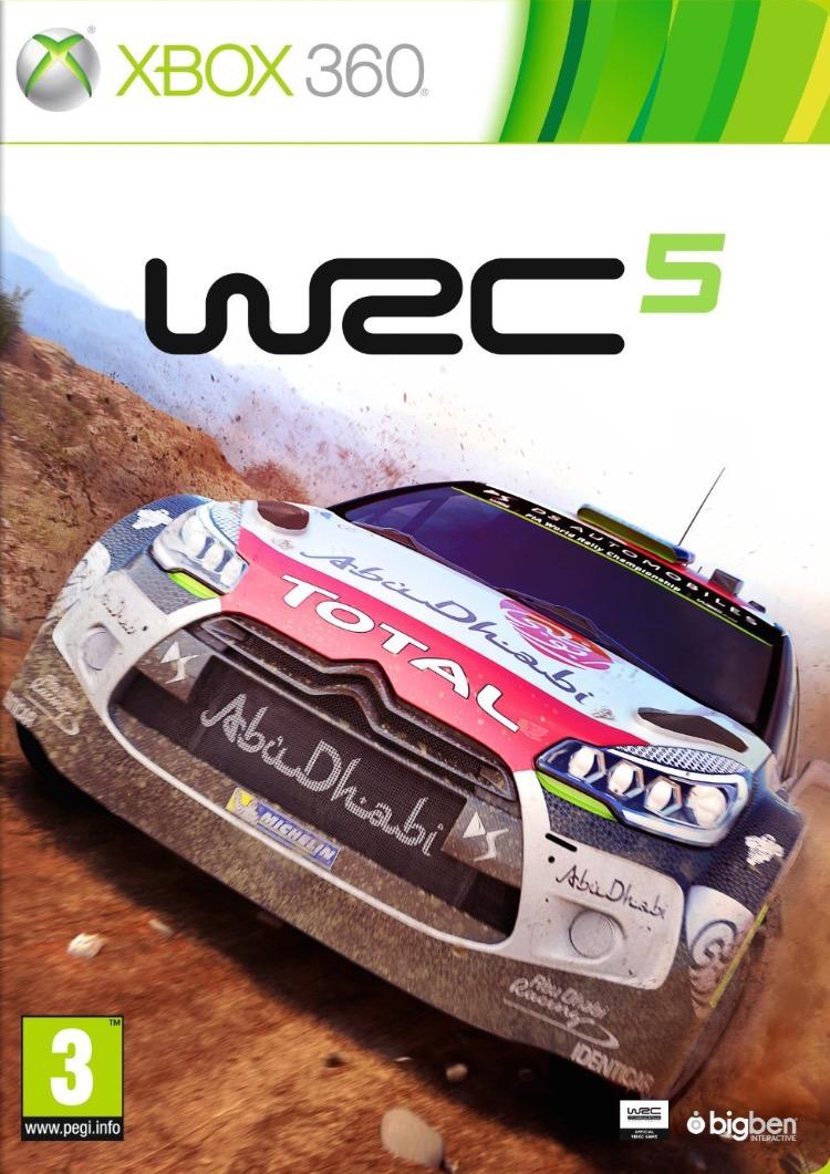 WRC 5 FIA World Rally Championship ESPAÑOL XBOX 360 Cover Caratula
