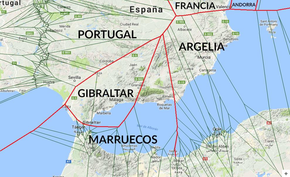 País más cercano a Andalucía