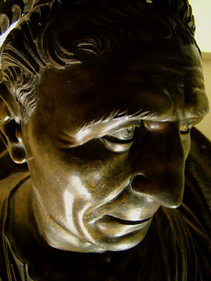 Bronze bust of Trajan in his later years