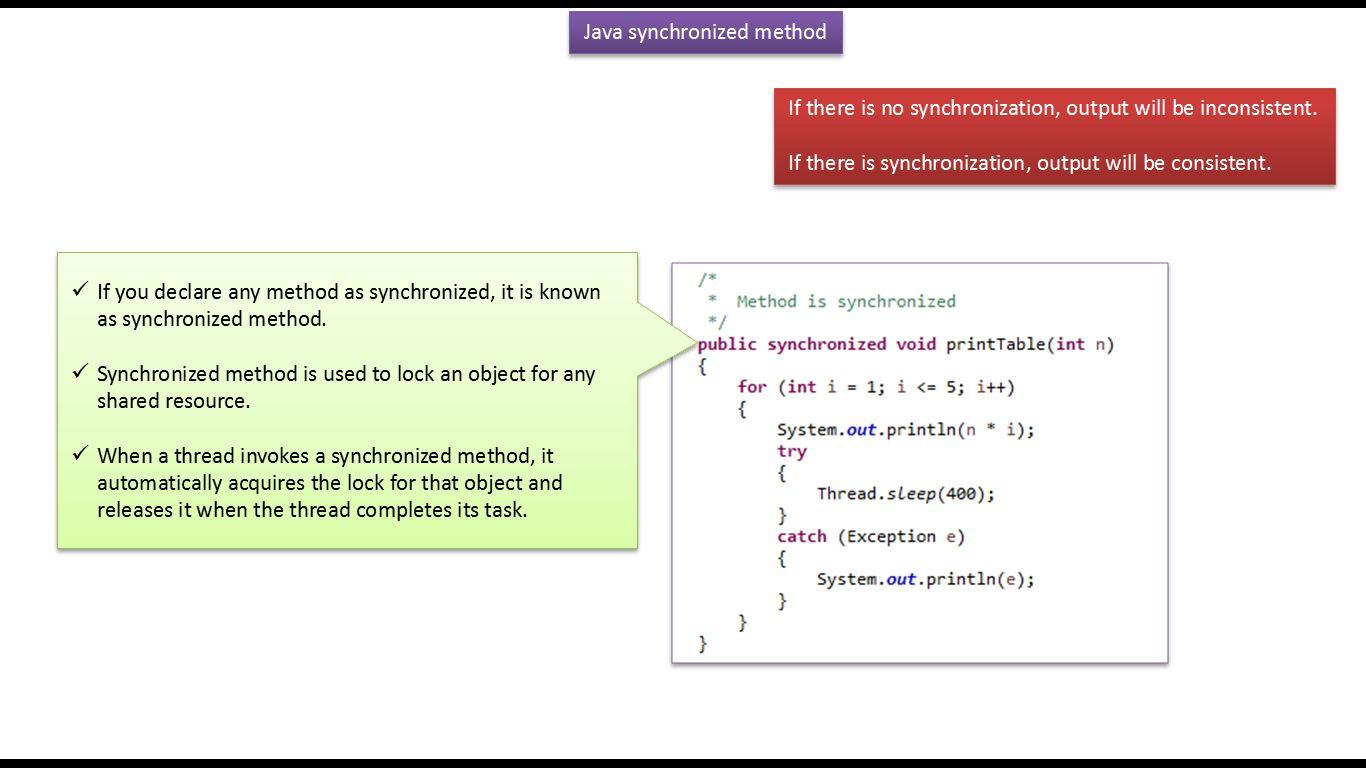 Java ee java tutorial java synchronization synchronization in java tutorial java synchronization synchronization in java synchronization method in javav1 baditri Gallery