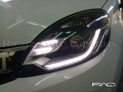 Custom headlamp Honda Mobilio RS with DRL line + smoke