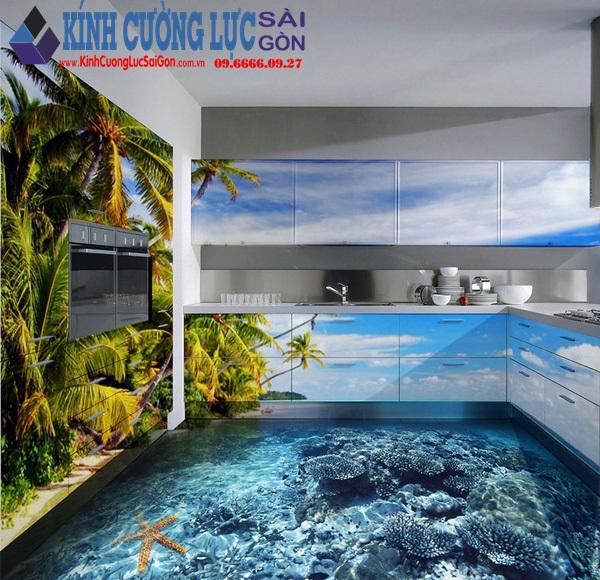 Biến phòng tắm thành đại dương với tranh kính nghệ thuật 3D đầy ấn tượng