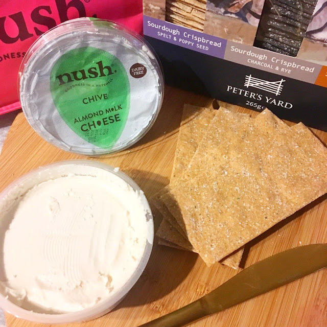 Nush natural cheese with Peter's Yard crackers
