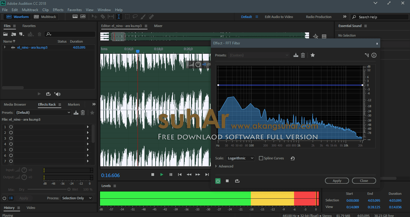 Free Download Adobe Audition CC 2018 Full Serial Number