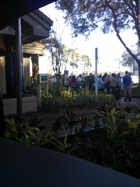 DCP Check-In Line at Vista Way