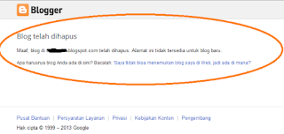 Penyebab Blog dibanned dihapus Google