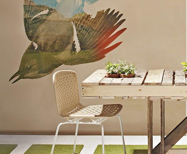 Vật dụng trong nhà được đóng bằng tấm palet gỗ