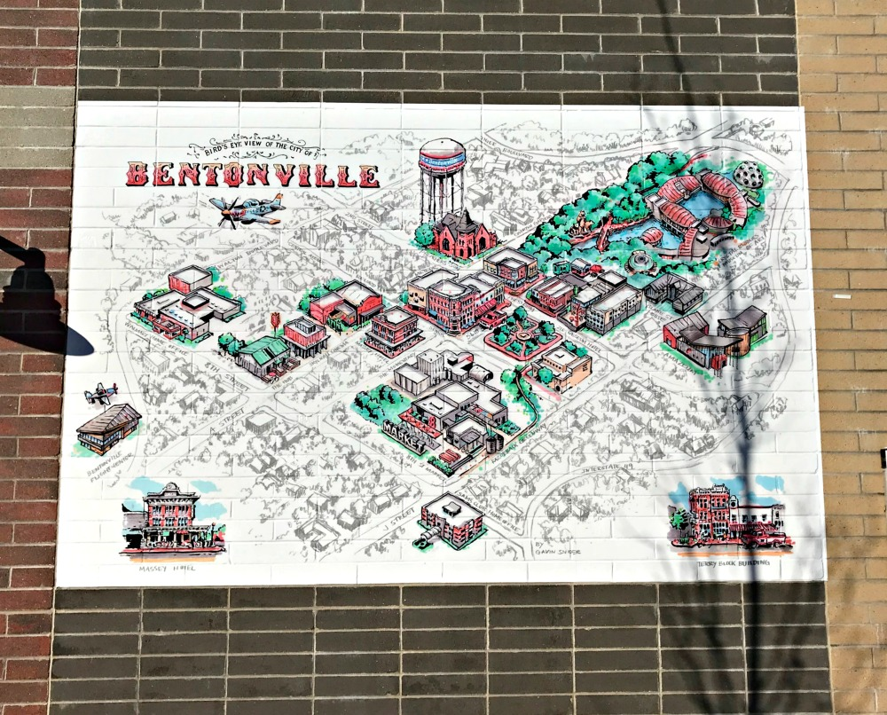bentonville arkansas map