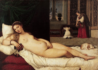 Venus of Urbino, a work by Titian painted in 1538, which is on display at the Uffizi in Florence