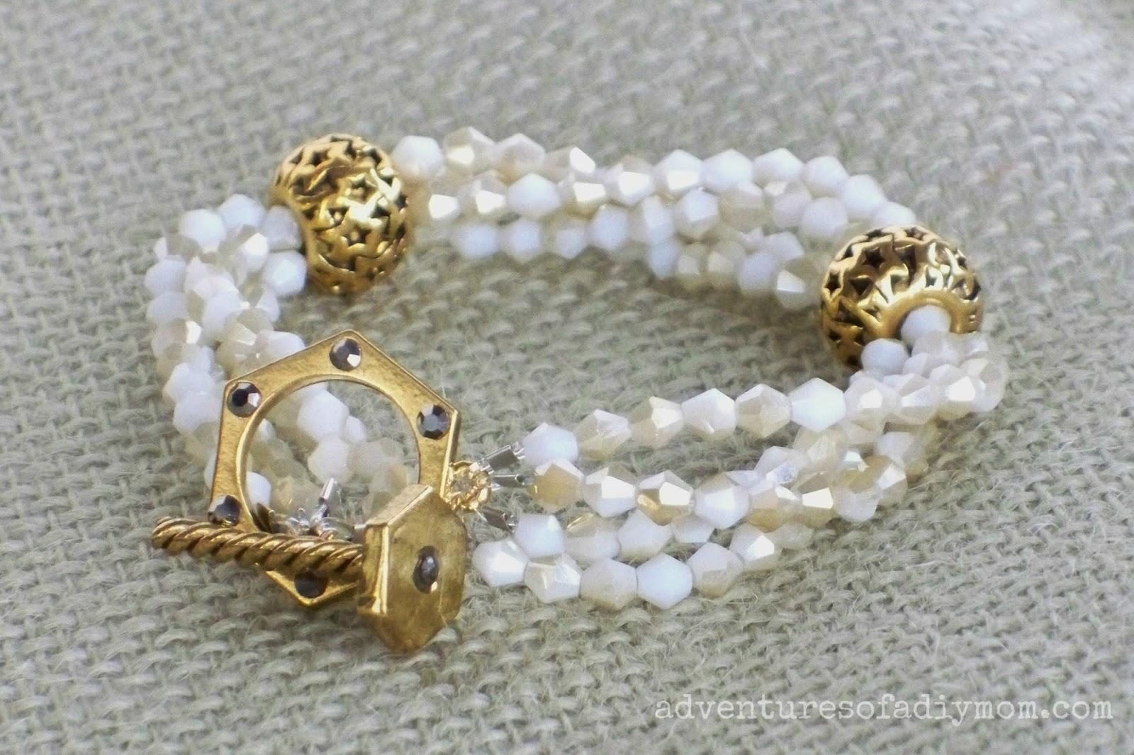 Ivory and Gold Bracelet