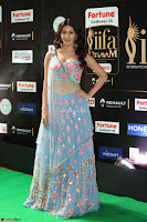 Amyra Dastur in Flower Print Choli Transparent Chunni at IIFA Utsavam Awards 35.JPG
