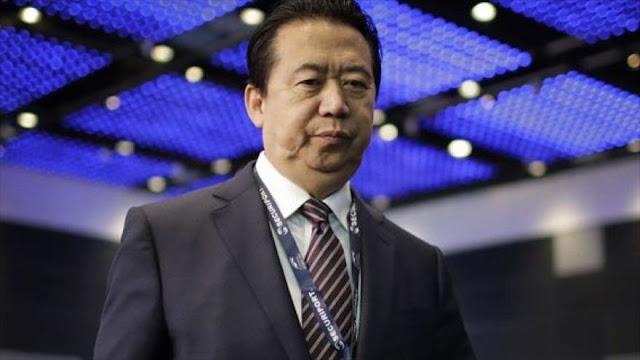 Interpol pide a China que aclare desaparición de su jefe chino