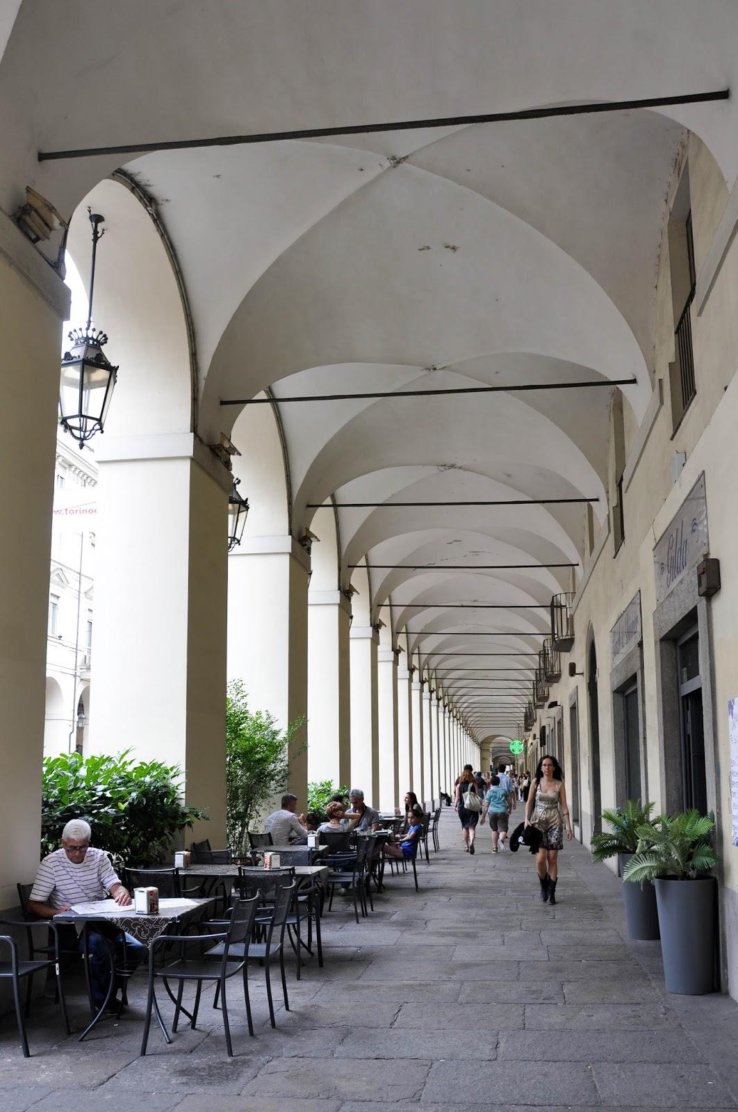 A street arcade, Turin, Italy