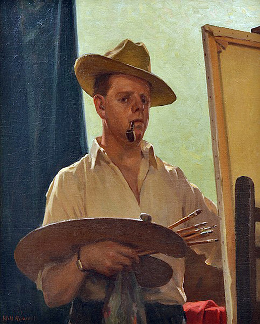 William Nicholas Rowell, Self Portrait, Portraits of Painters, William Nicholas, Fine arts, Portraits of painters blog, Paintings of William Nicholas, Painter William Nicholas