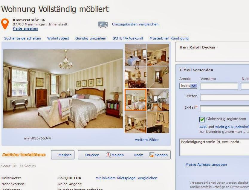 Wohnungsbetrug Blogspot Com Betrugsangebote Alias Herr