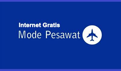 cara berinternet gratis dalam mode pesawat
