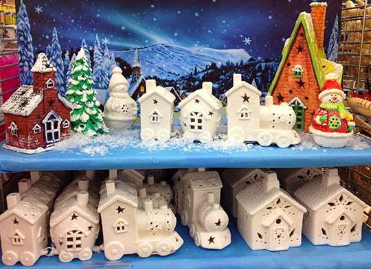Ben Franklin Crafts and Frame Shop: Paint Your Own Christmas Village