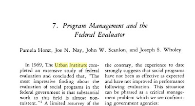 "Title page of ""Program Management and the Federal Evaluator"""