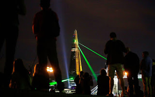 Amazing Shard London Light Show Design