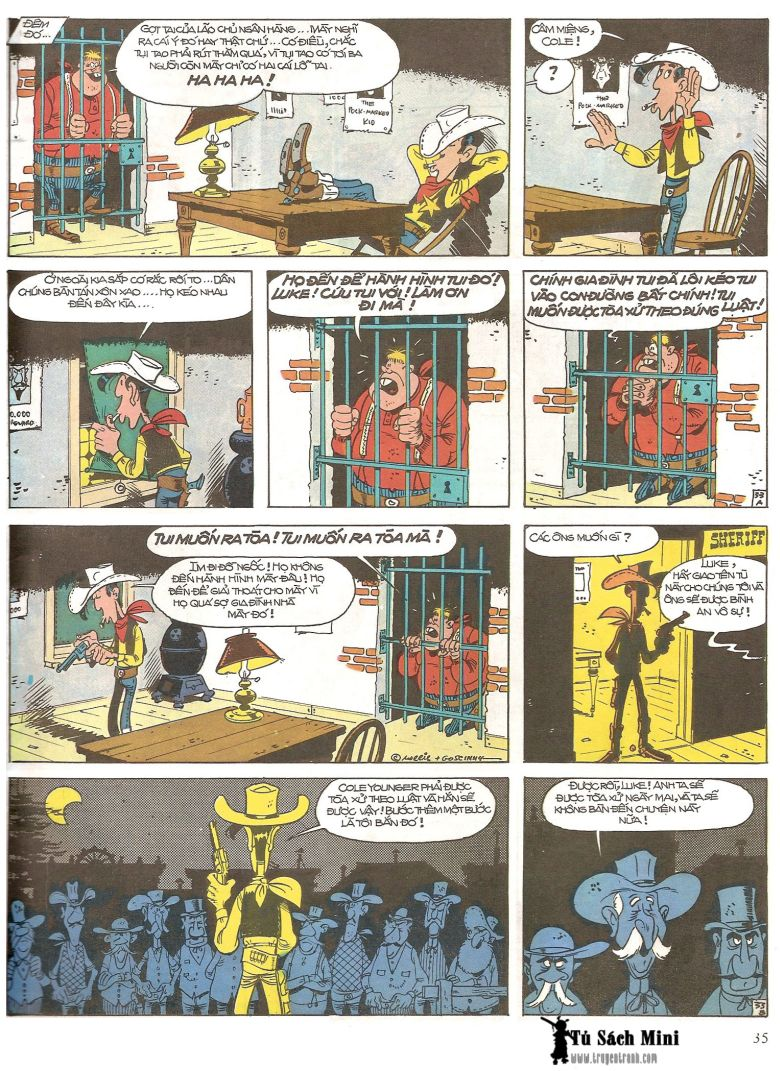 Lucky Luke tap 16 - jesse james hiep si rung xanh trang 37