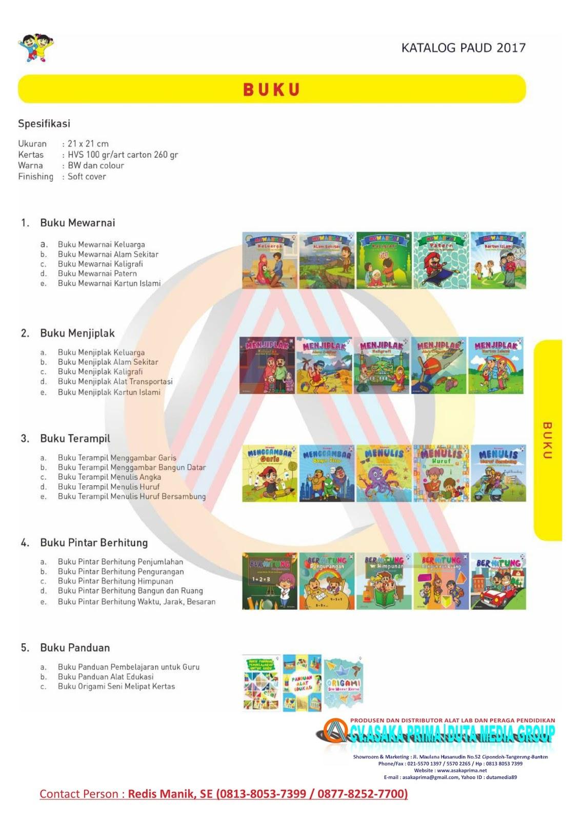 Spek Ape Dak Paud Tk Tahun 2017 Cvasaka Prima Juknis Bkkbn Buku Panduan Belajar Produksi Alat Peraga Tkalat Indoorape Outdoor