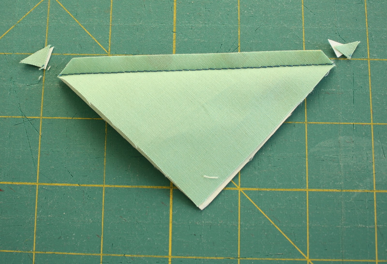 Half Square Triangle Quilt  instructions and pattern featured by top US quilting blog, Diary of a Quilter