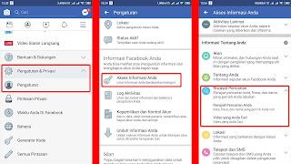 menghapus riwayat pencarian di facebook