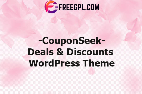 CouponSeek – Deals & Discounts WordPress Theme Nulled Download Free