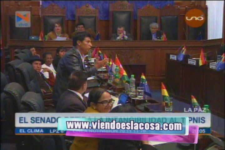 Senador Edwin Rodriguez califica de mamón a Evo Morales
