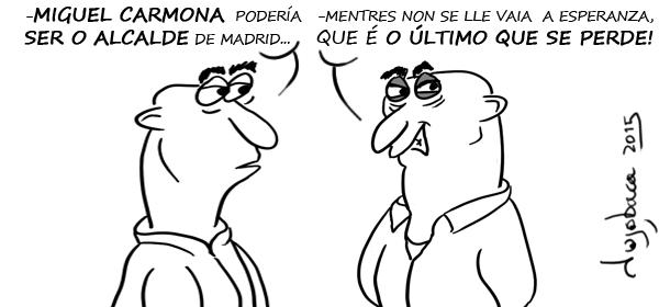 Aguirre apoiando a Carmona