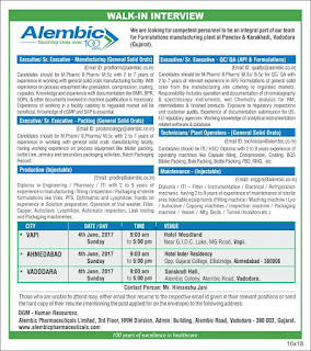 Alembic Pharmaceutical ltd  interview