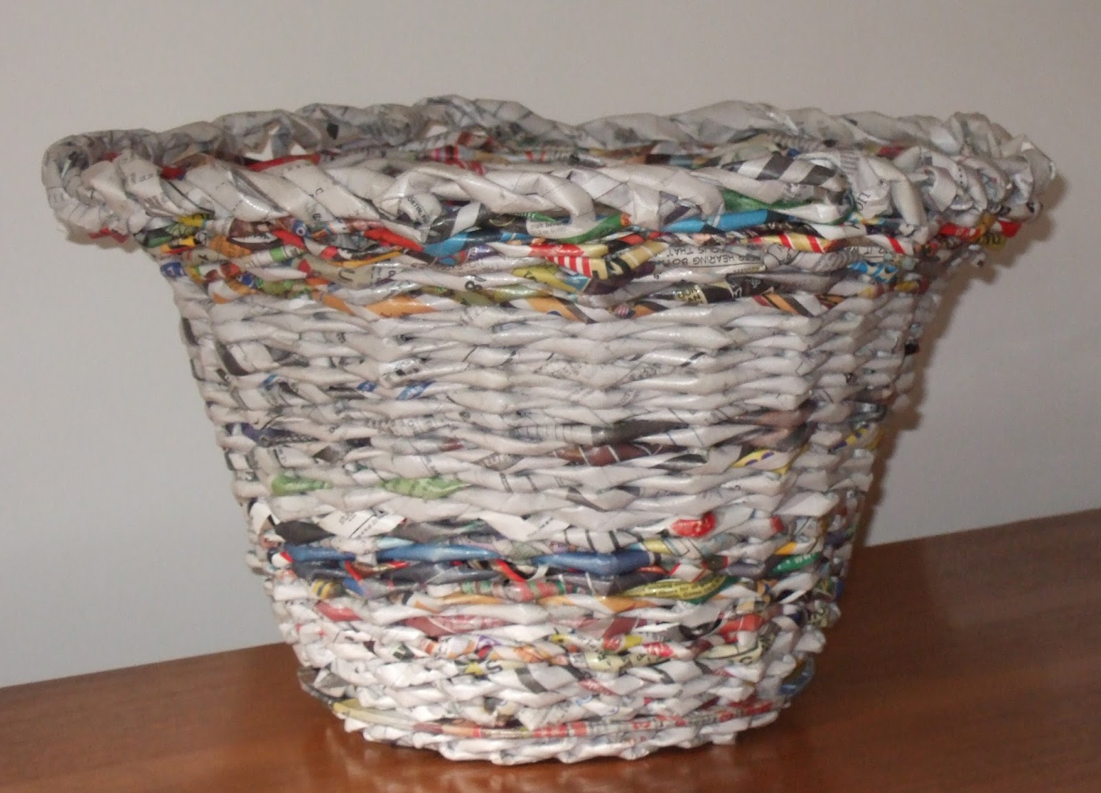How to recycle recycled waste paper basket for Waste things making