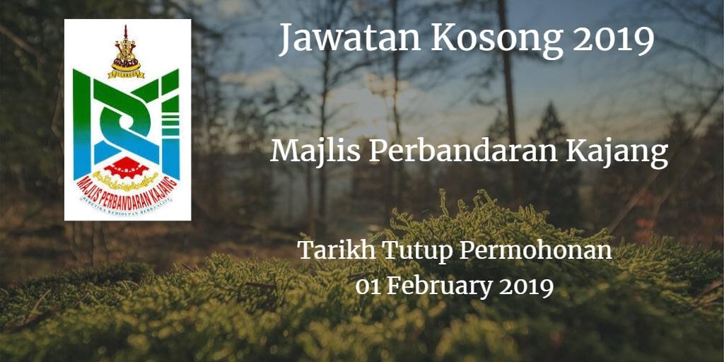 Jawatan Kosong MPKj 01 February 2019