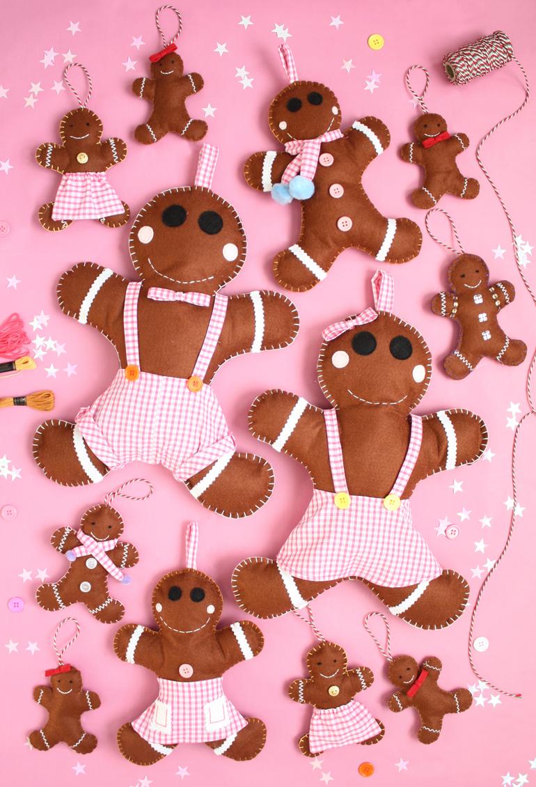 diy felt gingerbread