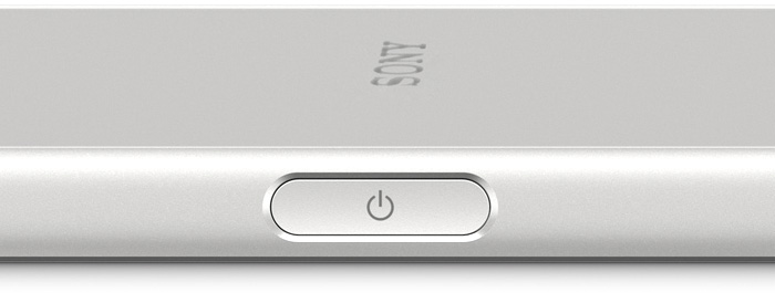 XPERIAの電源ボタン(指紋認証ができる)