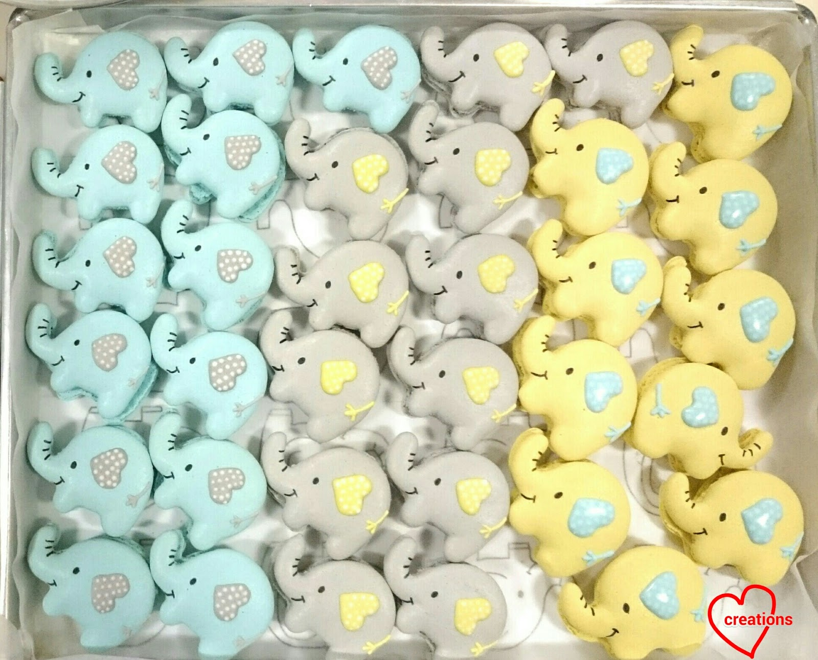 Loving Creations For You Elephant Macarons With Salted