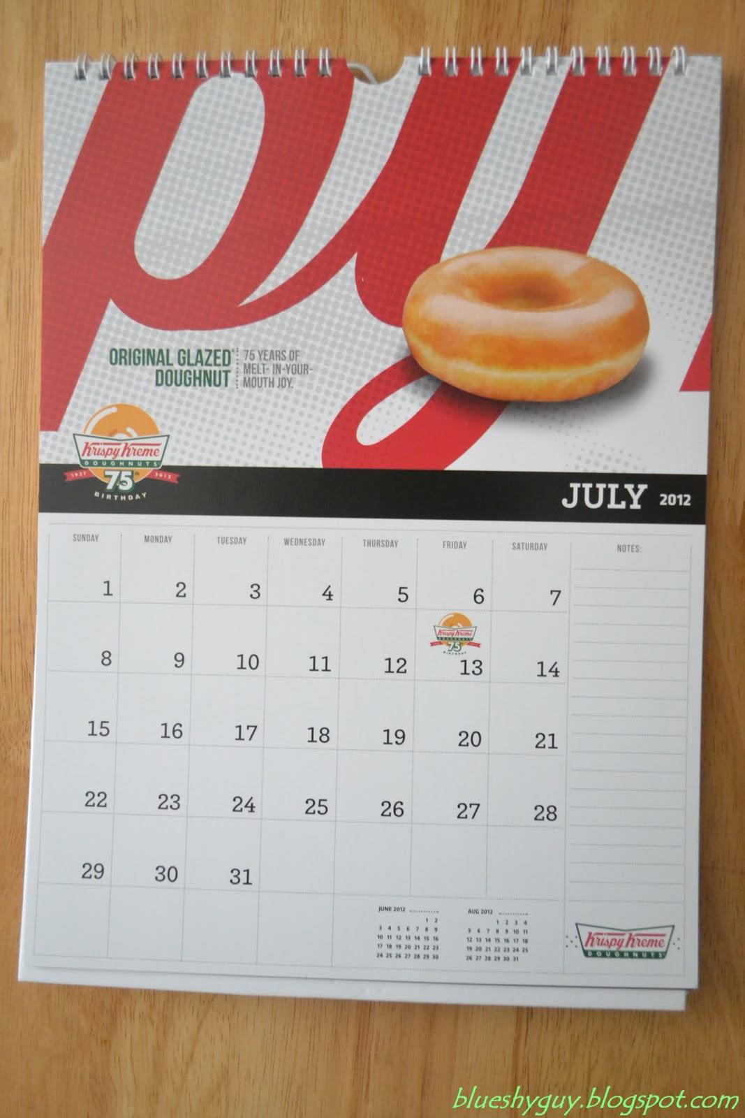 Krispy Kreme Calendar.The Tripper Guy Krispy Kreme 2012 Calendar