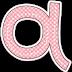 Divertido Alfabeto con Cuadros Rosa.