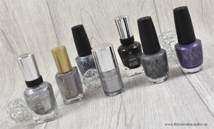 Nagellack - Silber - OPI - Sally Hansen - Nails Inc