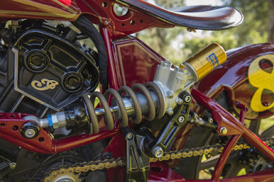 Indian Scout Custom Rear Öhlins Suspension