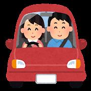 ドライブデートのイラスト(女性ドライバー)